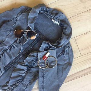 LAmade Grey Jean Jacket S New